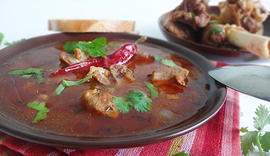 Готовый суп харчо с бараниной