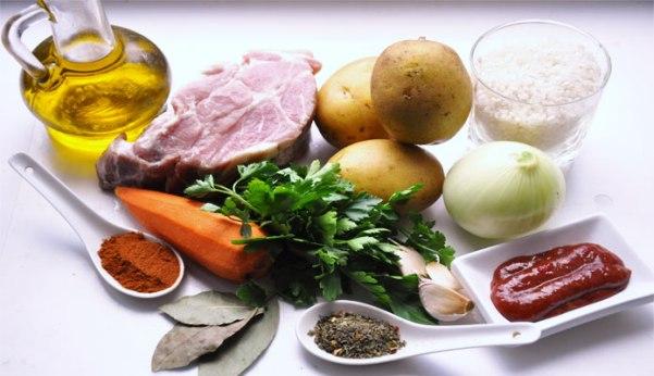 Ингредиенты для рецепта с картофелем