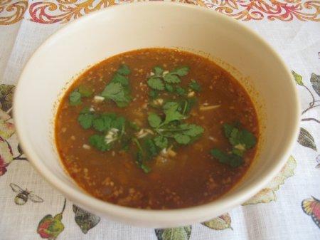 Постный суп харчо
