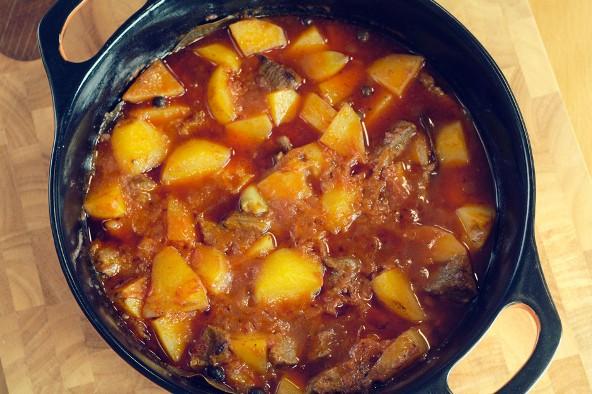 Рецепт тушеного мяса с картошкой рецепт