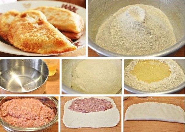 Как приготовить чебуреки с мясом в домашних условиях пошагово