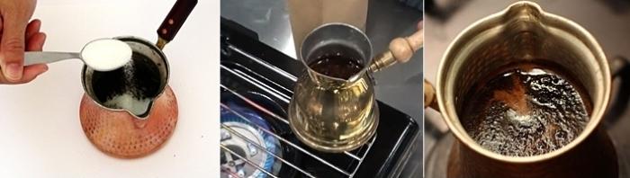 Приготовление в турке на плите